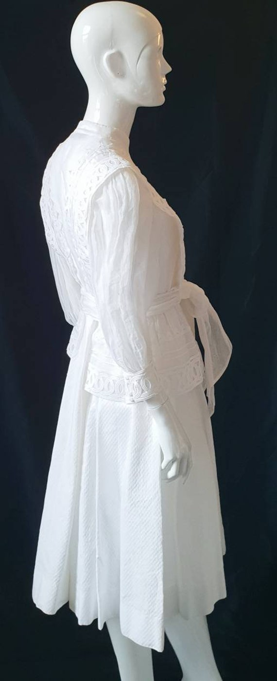 Vtg 70s PRUE ACTON White Finest Swiss Cotton, Org… - image 7