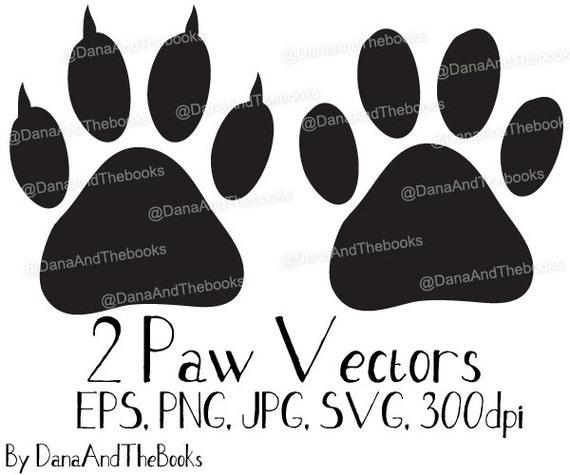 Dog or Cat Paw Print png, jpg, eps, svg, Clip art vector Instant Digital  Download for scrapbooking, arts & crafts