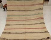 Moroccan handmade Rug - Handira rug blanket, handmaded by moroccan berber women