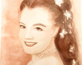 Portrait of Romy Shneider - embodying the Empress Sissy