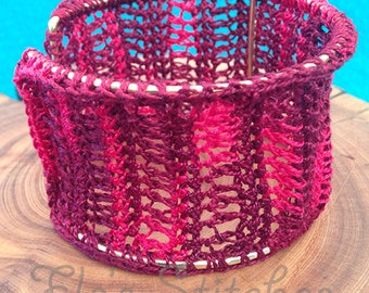 Red Crochet Bangle