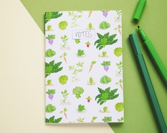 A6 Illustrated Vegetable Notebook