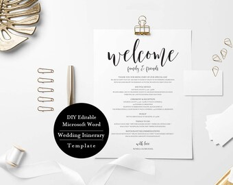 printable welcome letter welcome bag template wedding etsy