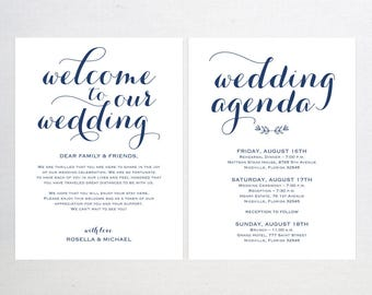 Wedding Welcome Bag Note Welcome Bag Letter Template Etsy