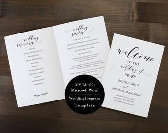 ceremony booklet etsy