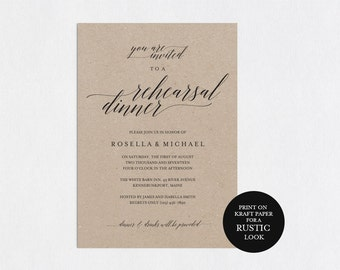 Rehearsal Dinner Invitation Template Printable Modern Templates Wedding Pdf Instant Download WPC 71SD1A