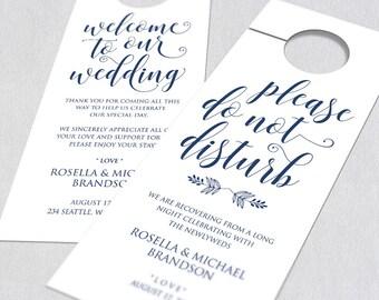 Wedding Door Hanger Door Hanger Printable Door Hanger - Wedding door hangers template