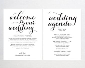 wedding welcome bag note welcome bag letter wedding itinerary agenda printable itinerary welcome letter welcome note wpc_808