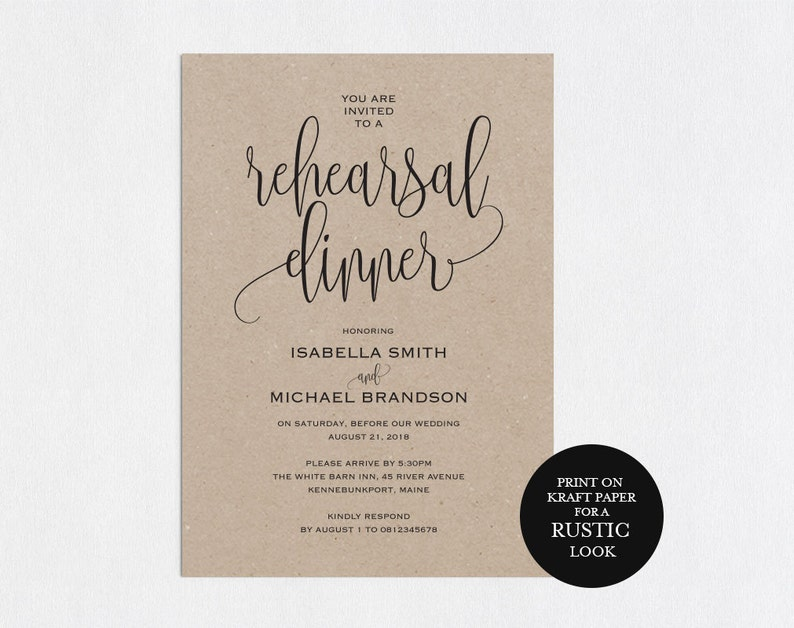 Rehearsal Dinner Invitations Favors Invite Template Download Invitation Wedding Sign