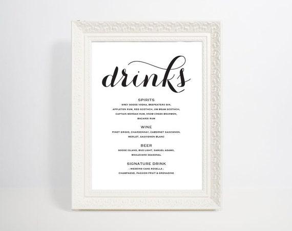 bar menu template bar menu bar menu printable bar menu