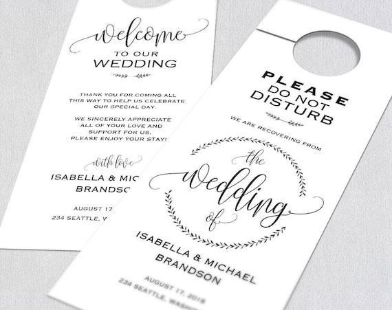 graphic regarding Printable Door Hanger Template identified as Marriage Doorway Hanger, Doorway Hanger Printable, Doorway Hanger Template, You should Do Not Disturb Doorway Hanger, Wedding day doorway tags, WPC_727SD2A
