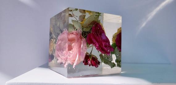 Preserving Wedding Flowers In Large Resin Cube Keepsake Sweet Etsy