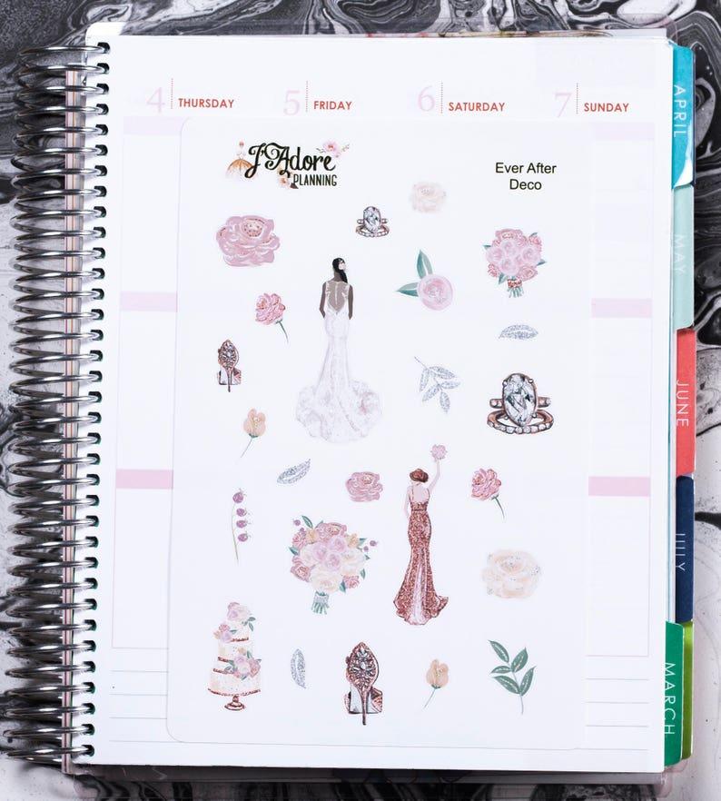 Erin Condren Wedding Planner.Wedding Planner Stickers For Erin Condren And Happy Planner