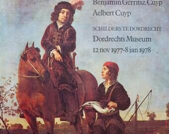 Kinderbildnis Bruckmann Munich 1899 Albert Cuyp Antique Lithograph Dutch Boy 8 x 10