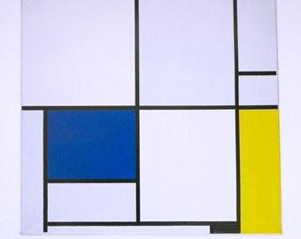 """1970 Vintage MONDRIAN /""""COMPOSITION LONDON/"""" COLOR offset Lithograph"""
