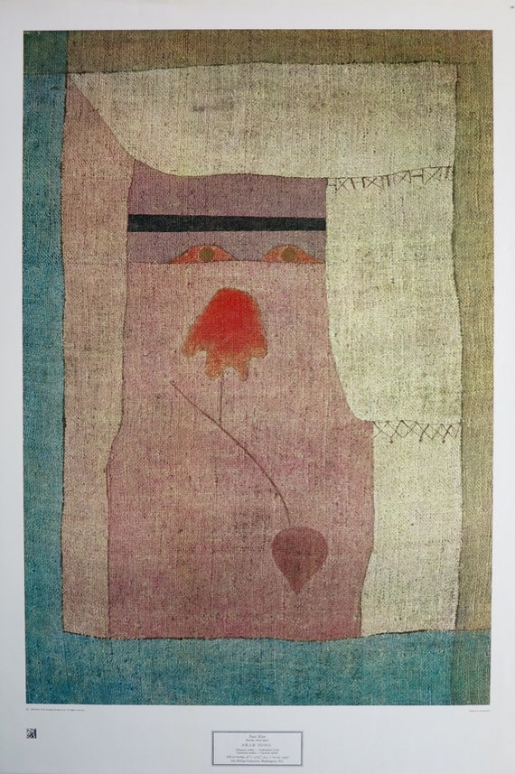 """1967 Vintage PAUL KLEE /""""FULL MOON/"""" GORGEOUS ABSTRACT COLOR offset Lithograph"""