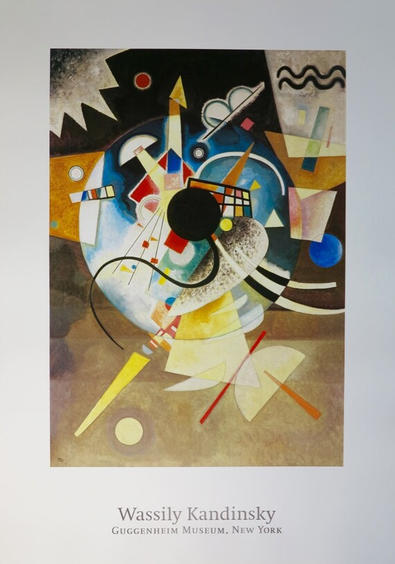 Wassily Kandinsky Print Modern art Wassily Kandinsky Abstract art Wassily Kandinsky exhibition print GALLERY EXHIBITION POSTER