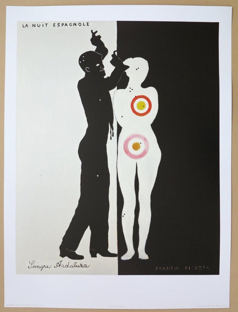 La Nuit Espangnole Francis Picabia exhibition poster figurative museum print French artist