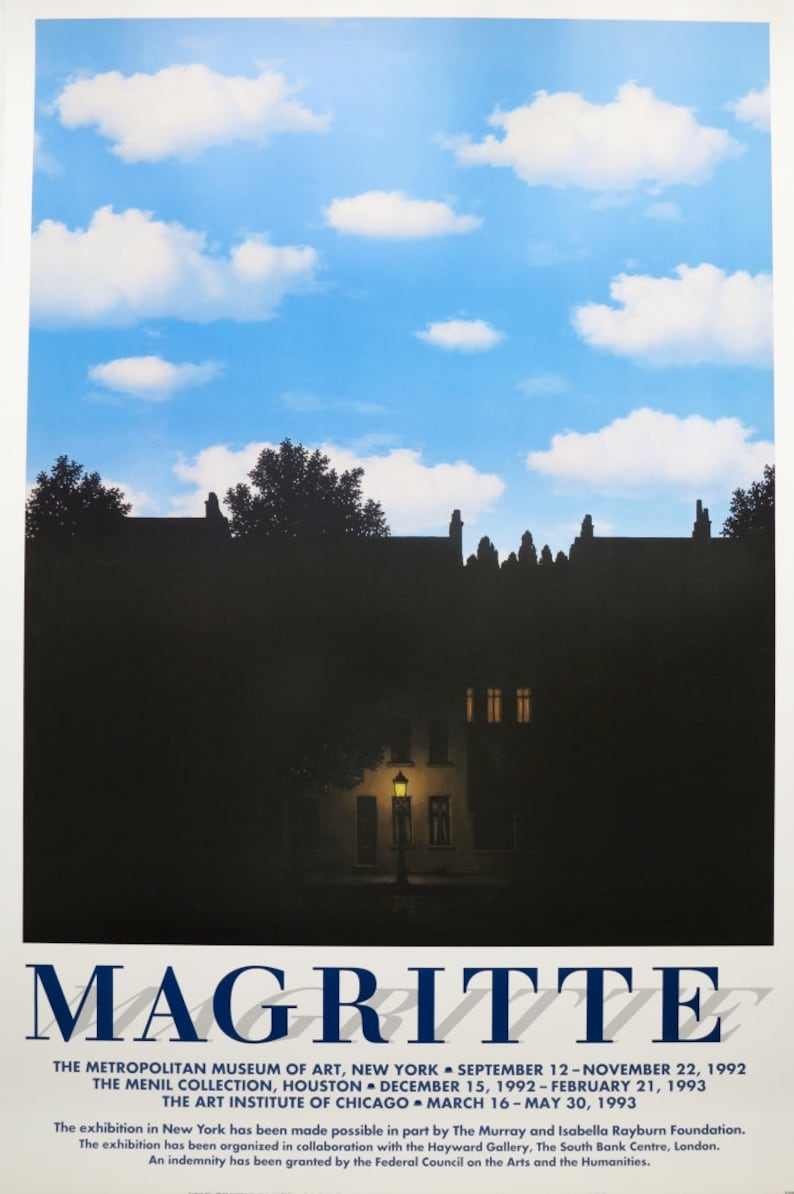 2644db8943d Rene Magritte exhibition poster The Dominion of Light