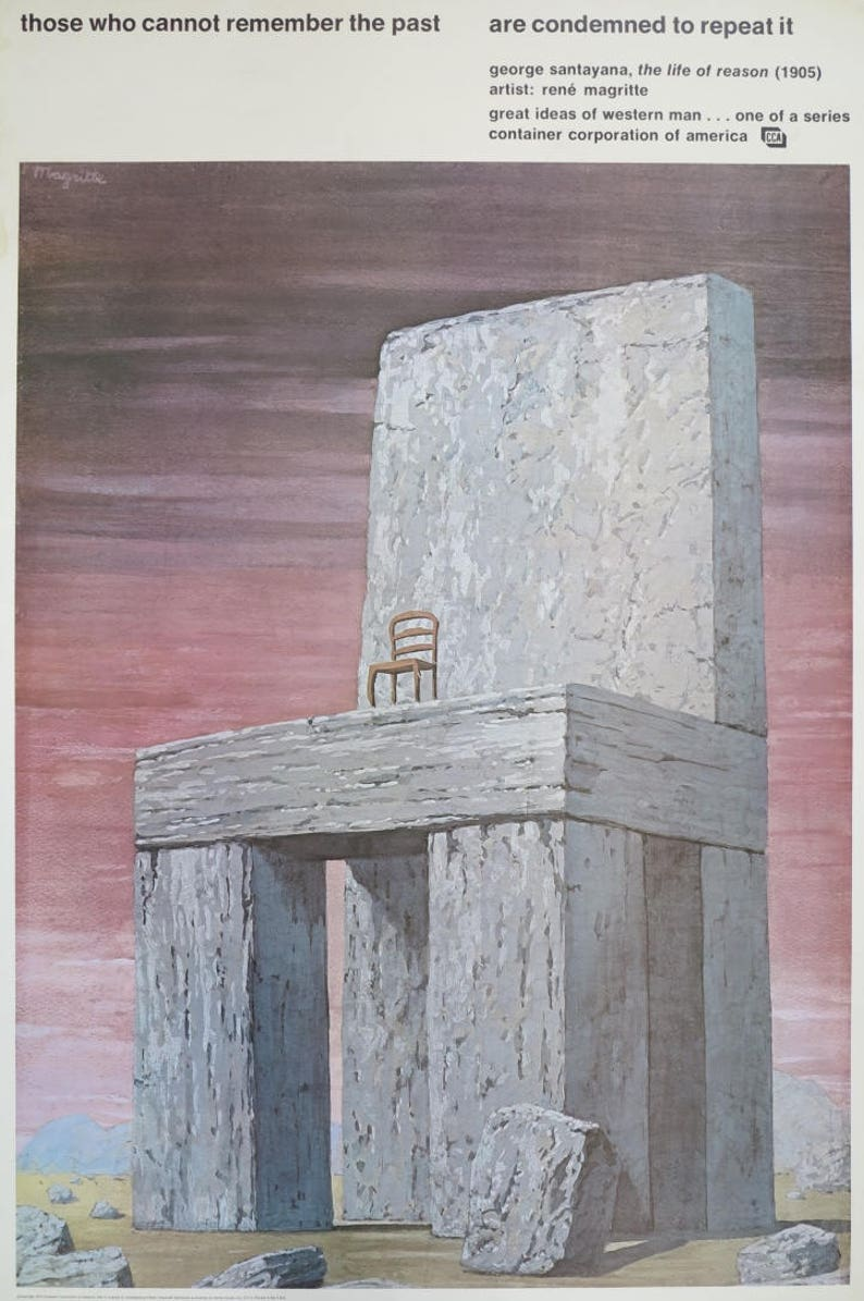 935840b0ce7 Rene Magritte exhibition poster Container Corporation of