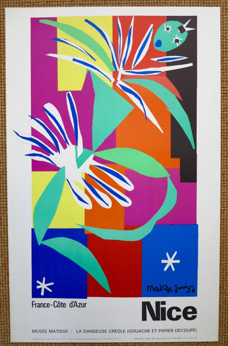 6563449cd62 Affiche exposition lithographie originale de Henri Matisse