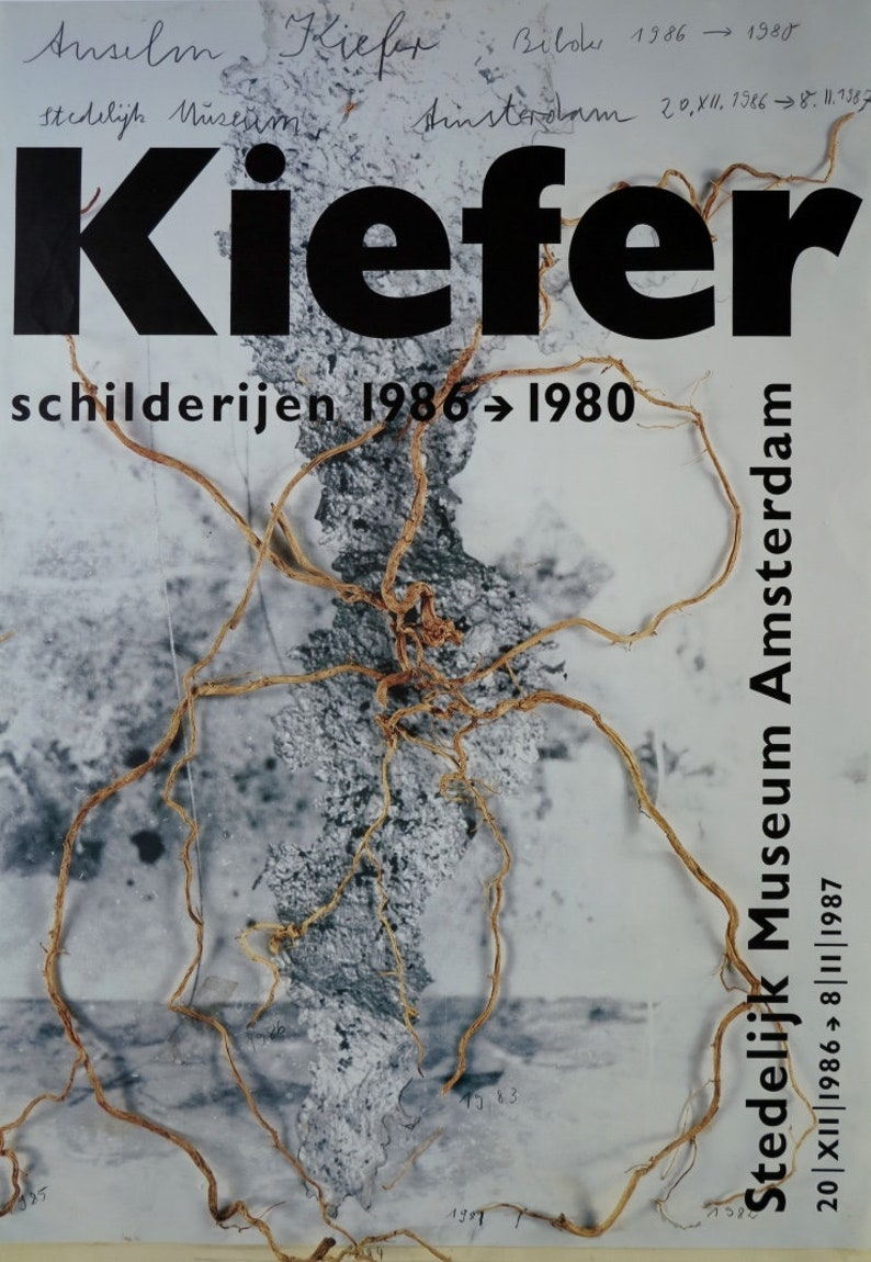 f5b5fcc8c2b Anselm Kiefer exhibition poster Stedelijk Museum Amsterdam