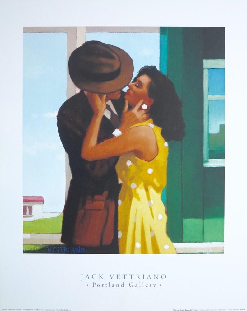 Jack Vettriano Ausstellung Plakat Der Letzte Große Romantiker Liebe Kuss Offset Lithographie Amerikanische Szene Ausgezeichnet