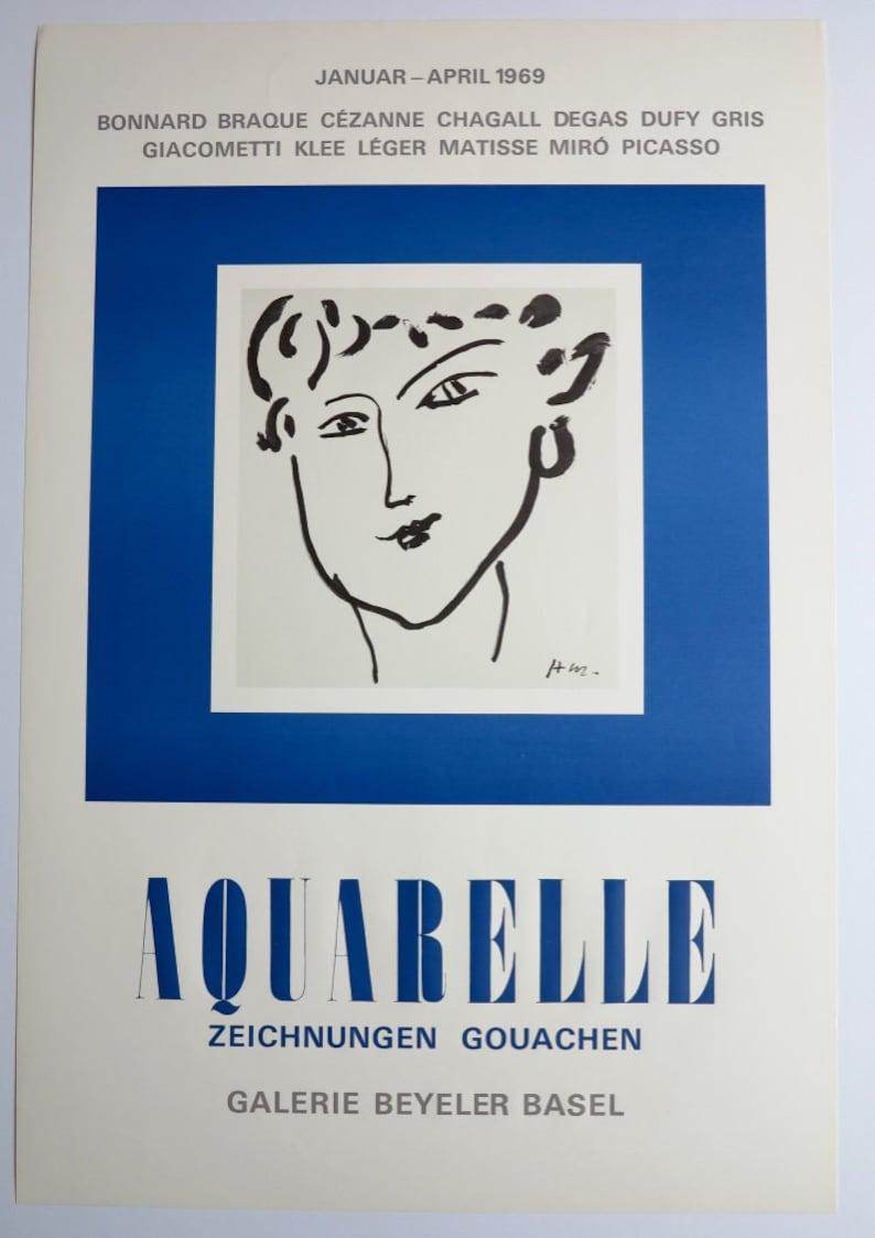 e106894eea8 Henri Matisse exhibition poster portrait lady museum print