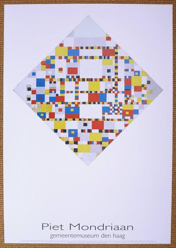 -1986 Poster No text Piet Mondrian-Victory Boogie Woogie