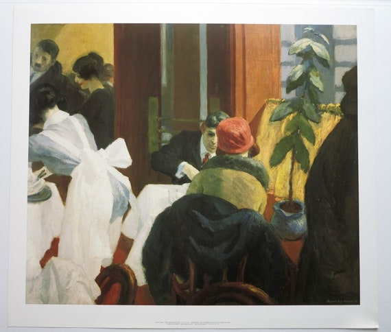 Printed in 1980/'s for Museum Room in New York Edward Hopper Original Poster