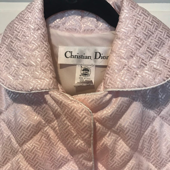1960s Christian Dior Pink Quilted Robe