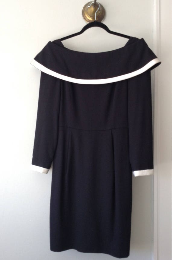 Vintage Scaasi Portrait Neckline Dress, 1960s - image 1