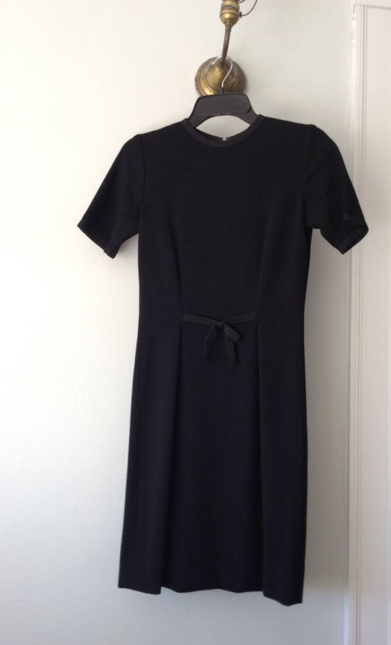 Vintage 1960s Italian Black Knit Mirsa Dress