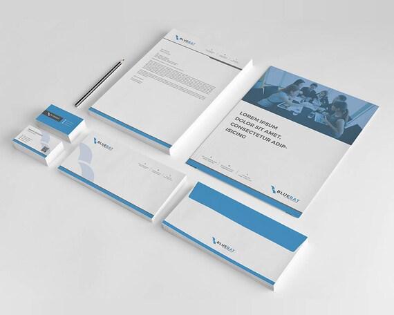 Ensemble Prt PSD Fichiers Carte De Visite Design Corporate