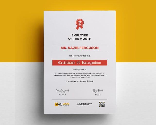 Anerkennung Zertifikat Vorlage stationäre Design in MS Word | Etsy