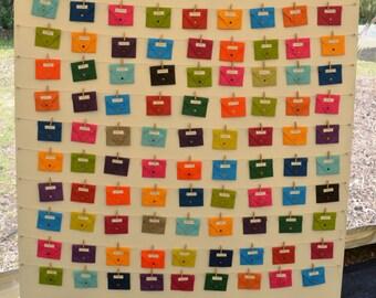 Small origami envelopes x5 mixed colours