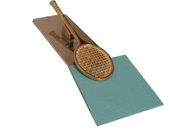 Exceptionnel Vintage Tennis Racquet Paper Clip; Desk Office Accessories