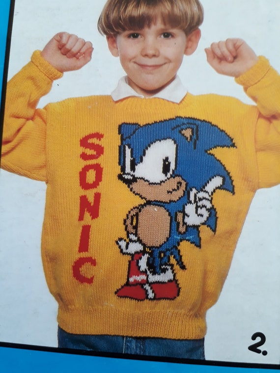 Sonic The Hedgehog Sweater 4 Knitting Pattern Booklet By Gary Etsy