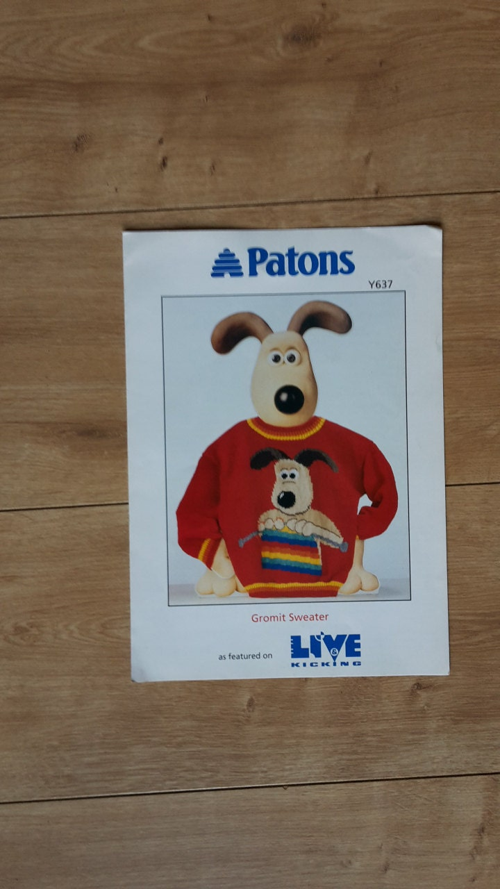 Gromit Knitting Pattern, Wallace & Gromit, Gromit In Porthole Jumper ...