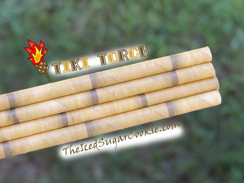 Tiki Straws Hawaiian Straws Party Straws Paper Straws Paper Straws Birthday Party Cake Pop Straws Luau Straws Bamboo Straws