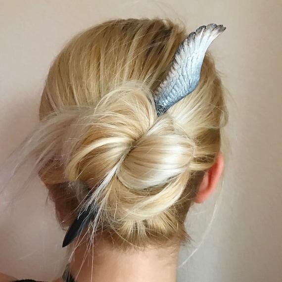 Rose Print Hair Sticks Long Hair Chopsticks Bun Holder Wooden Hair Stick Pin UK