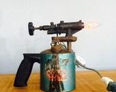 Vintage Blow Torch Repurposed Lamp