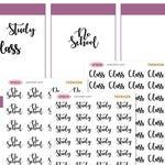 No School Study Class Word Planner Stickers Erin Condren Kikki K Filofax Happy Planner Travelers Notebook Midori SF0019