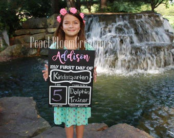First and Last Day of School sign, First day of school chalkboard, 1st Day of School, First day of preschool, First day of kindergarten sign
