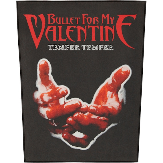 Bullet For My Valentine Temper Temper Back Patch Etsy