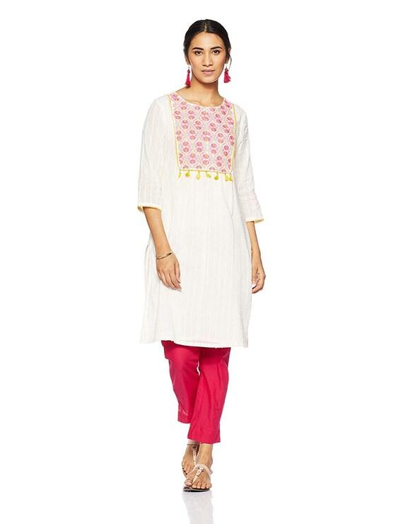d9f1e455fbc Indian Kurti Indian Tunic Cotton Top Indian White Cotton Kurti
