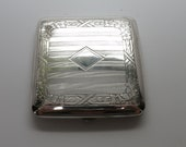 Art Deco Transitional 1918 Wightman Hough Sterling Silver Pop Up Cigarette Case