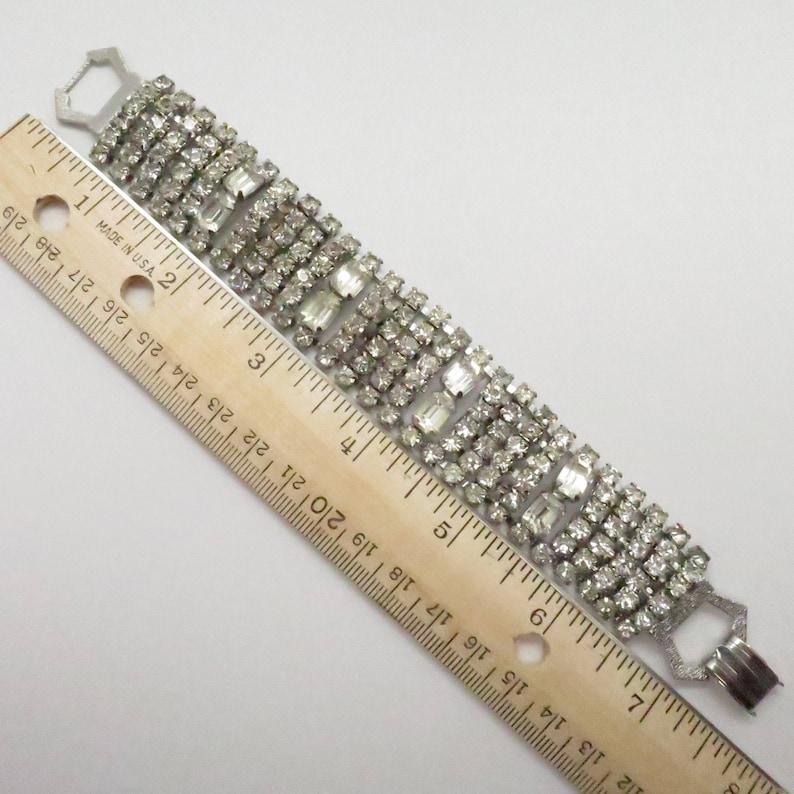 Vintage 1 Wide Flexible Rhinestone Bracelet