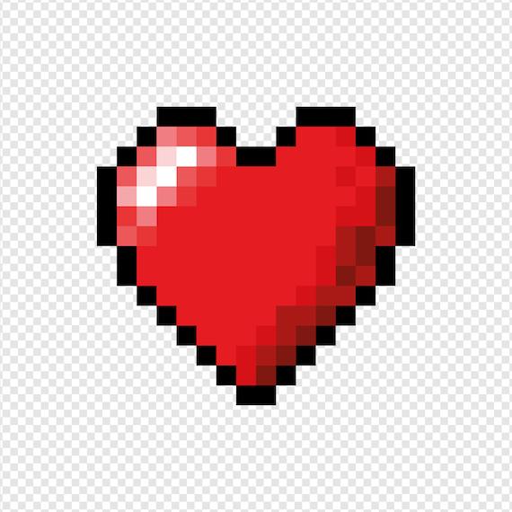 Coeur Coeur Pixel Tirage Amour Amour Coeur Pixel Art Cadeau Saint Valentin Art Mural Art Mural Imprimable Cadeau De Mariage Cadeau De