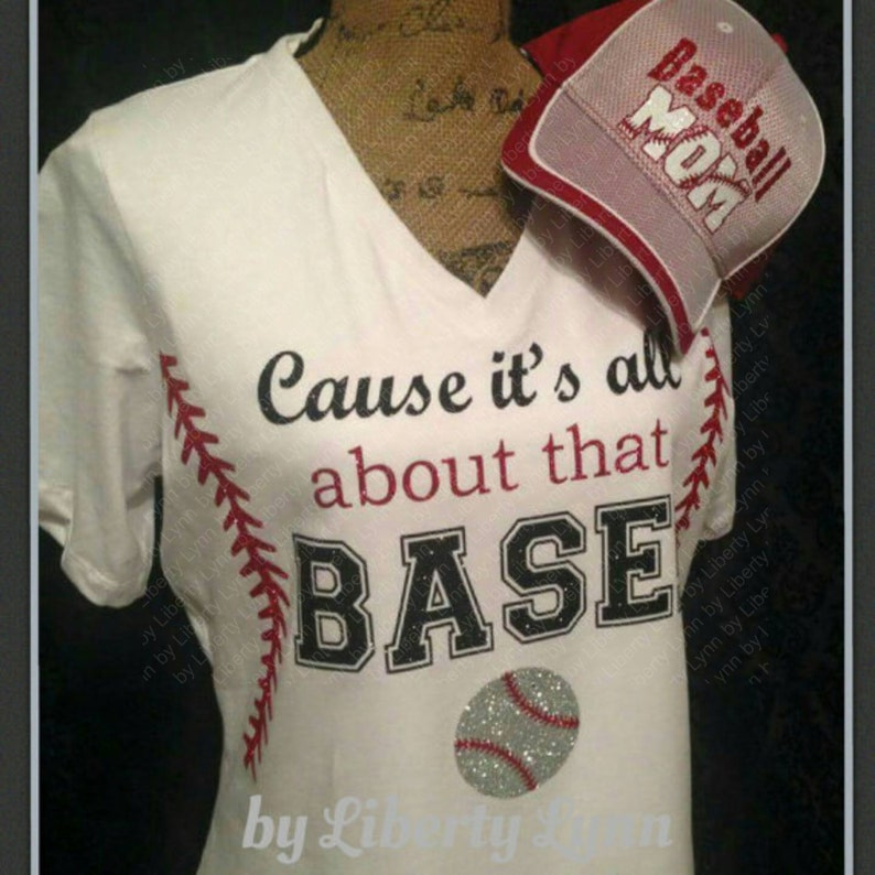 5f681fcb7a1 Its All About That BASE Baseball or Softball Shirt   Laces